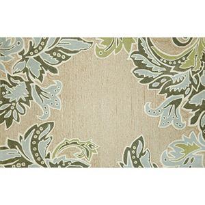 Liora Manne Ravella Ornamental Leaf Border Indoor Outdoor Rug