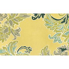 Liora Manne Ravella Ornamental Leaf Border Indoor Outdoor Rug