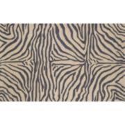 Liora Manne Ravella Zebra Print Indoor Outdoor Rug