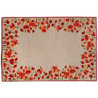 Trans Ocean Imports Liora Manne Ravella Poppies Floral Indoor Outdoor Rug
