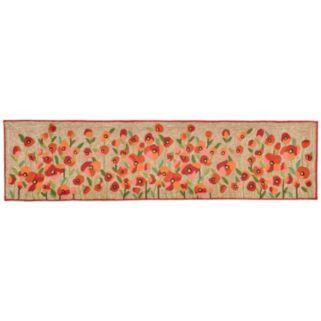 Trans Ocean Imports Liora Manne Ravella Poppies Floral Indoor Outdoor Rug