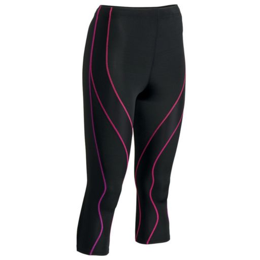 Women's CW-X PerformX COOLMAX Compression Capri Running Tights