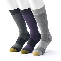 Men's GOLDTOE ProTec 3-Pack Crew Socks
