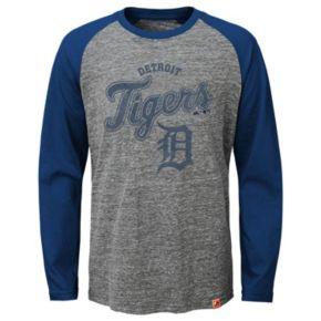 Boys 8-20 Majestic Detroit Tigers Fast Win Raglan Tee