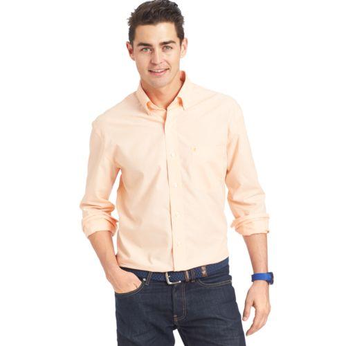 Big & Tall IZOD Classic-Fit Solid Button-Down Shirt