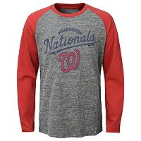 Boys 8-20 Majestic Washington Nationals Fast Win Raglan Tee