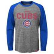 Boys 8-20 Majestic Chicago Cubs Fast Win Raglan Tee
