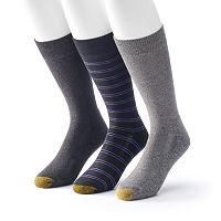 Men's GOLDTOE ProTec 3-Pack Performance Crew Socks