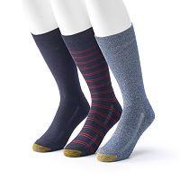 Men's GOLDTOE ProTec 3-Pack Performance Crew Socks