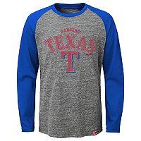 Boys 8-20 Majestic Texas Rangers Fast Win Raglan Tee