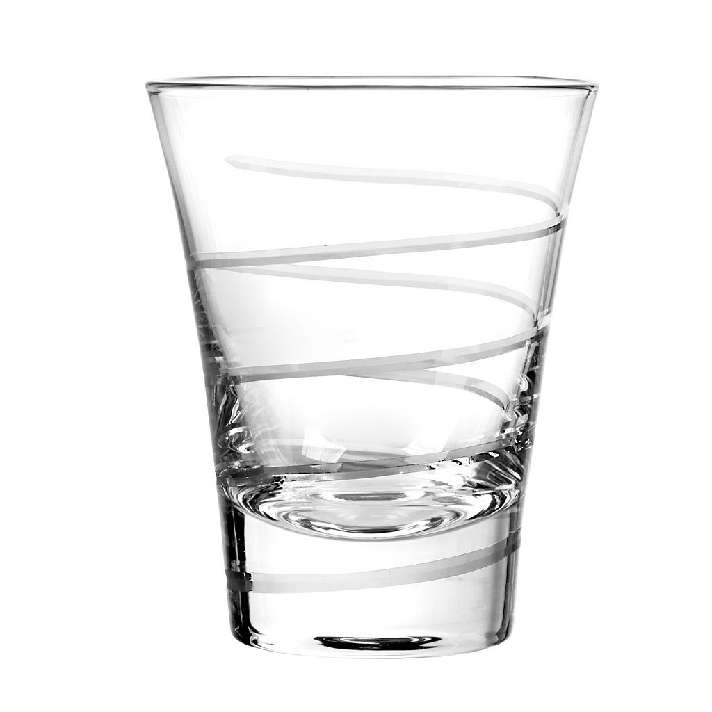 Qualia Glass Vortex 4-pc. Double Old-Fashioned Glass Set