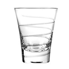 Qualia Glass Vortex 4 pc Double Old-Fashioned Glass Set