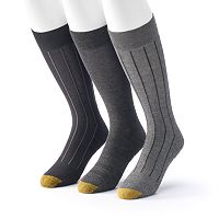 Men's GOLDTOE 3-Pack Performance Crew Socks