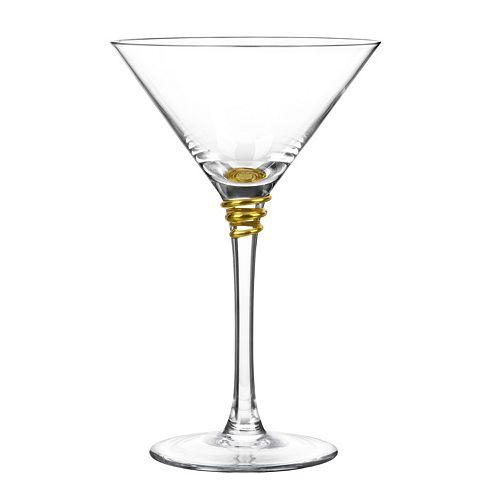 Qualia Glass Helix Gold 4-pc. Martini Glass Set