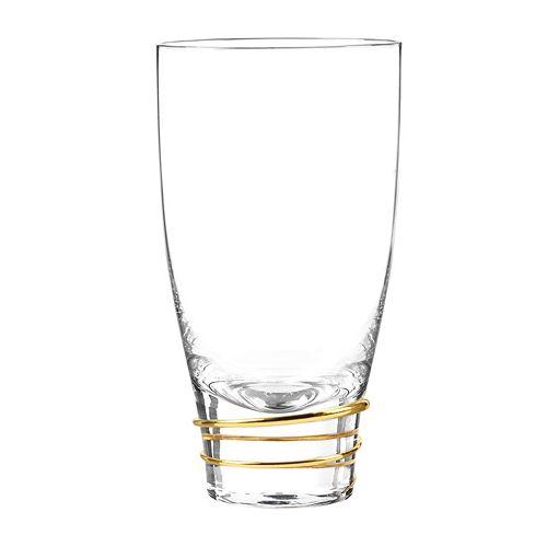 Qualia Glass Helix Gold 4-pc. Highball Glass Set