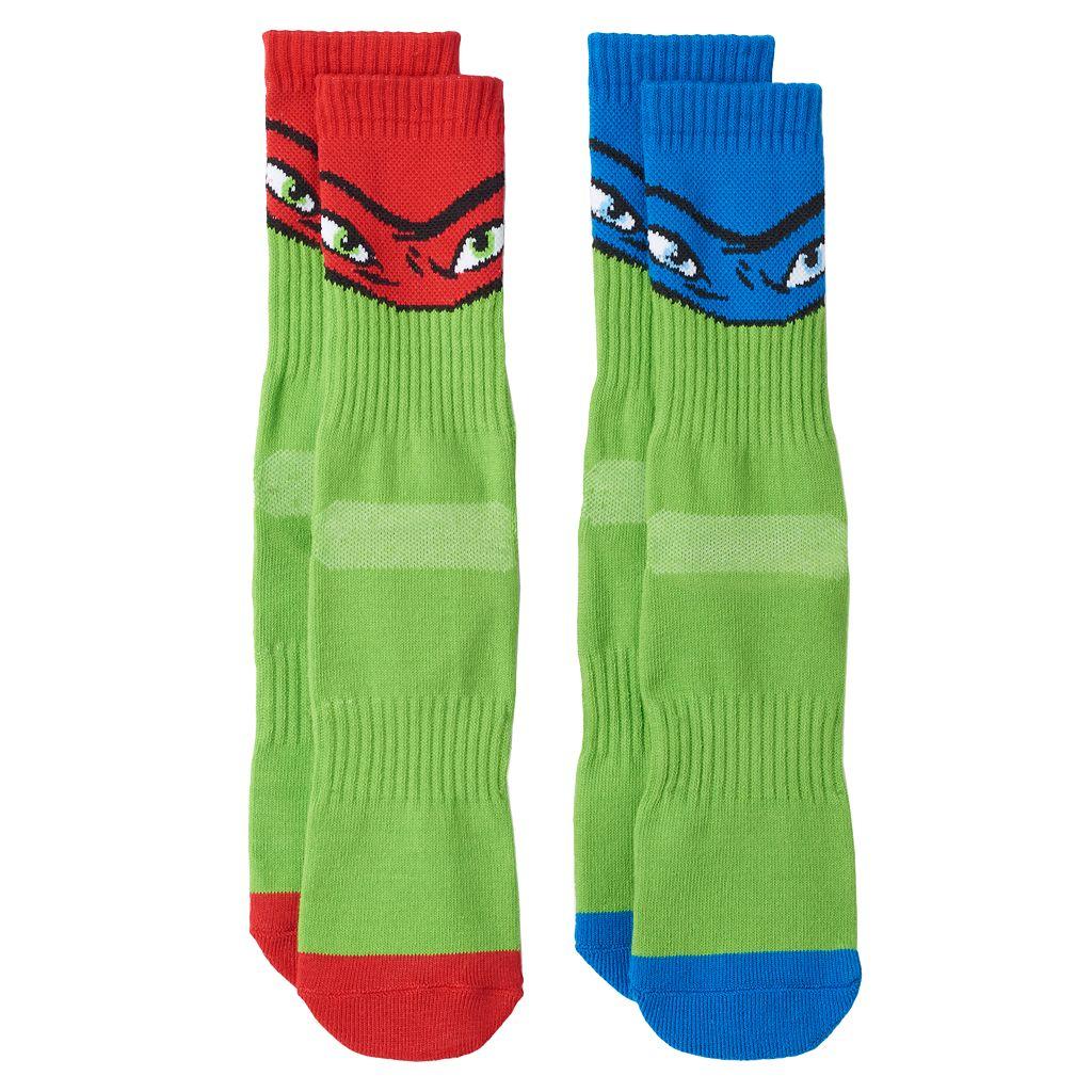 Boys Teenage Mutant Ninja Turtles 2-Pack Athletic Socks