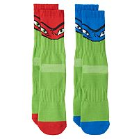 Boys Teenage Mutant Ninja Turtles 2-Pack Athletic Socks