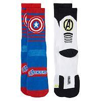 Boys Marvel The Avengers 2-Pack Athletic Socks