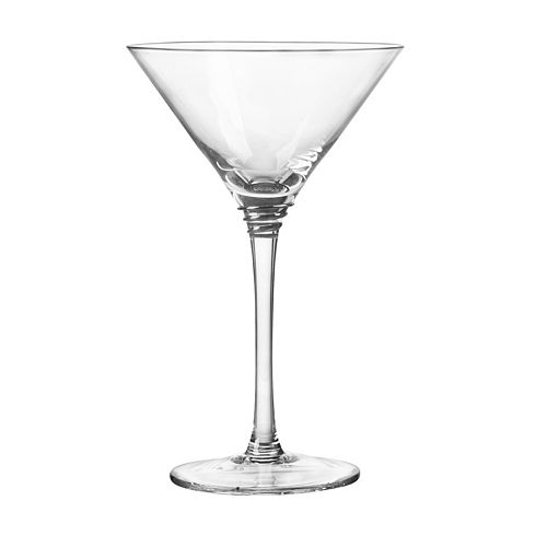 Qualia Glass Helix Platinum 4-pc. Martini Glass Set