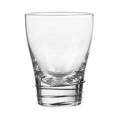 Qualia Glass Helix Platinum 4 pc Double Old-Fashioned Glass Set