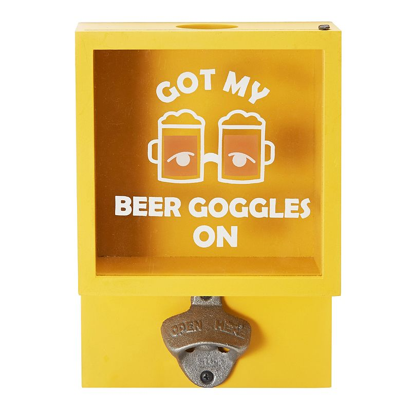 Elements Goggles Wall Bottle Opener, Multicolor