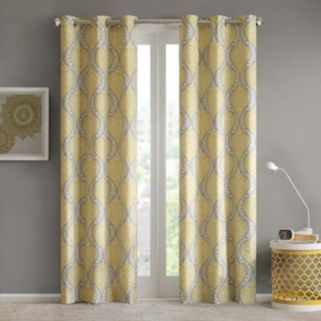 Intelligent Design 2-pack Lilly Damask Printed Window Curtains