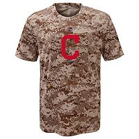 Boys 8-20 Majestic Cleveland Indians Camo Cool Base Performance Tee