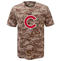 Boys 8-20 Majestic Chicago Cubs Camo Cool Base Performance Tee