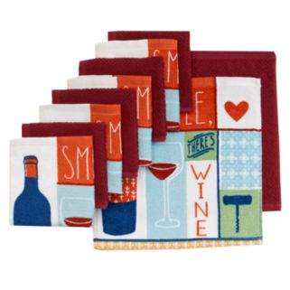 "The Big One® ""Smile, There's Wine"" Dish Towels - 10-pk."