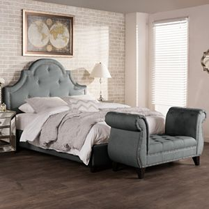 Baxton Studio Colchester Modern Platform Bed & Bench Set!