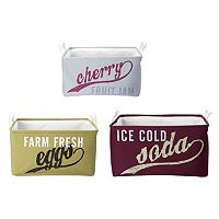 Elements Vintage Food Labels 3 pc Storage Container Set