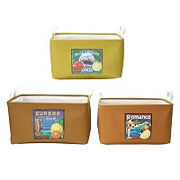 Elements Vintage Fruit Labels 3 pc Storage Container Set