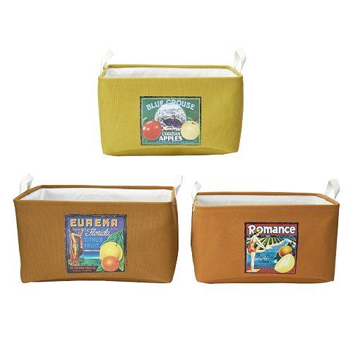 Elements Vintage Fruit Labels 3-piece Storage Container Set