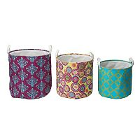 Elements Mediterranean 3 pc Storage Basket Set