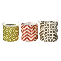 Elements Geometric 3-piece Storage Container Set