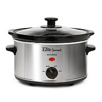 Elite Gourmet 2-qt. Oval Slow Cooker