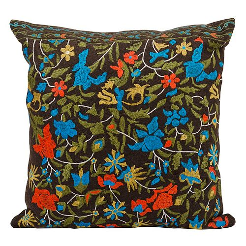 Mina Victory Flowers Throw Pillow