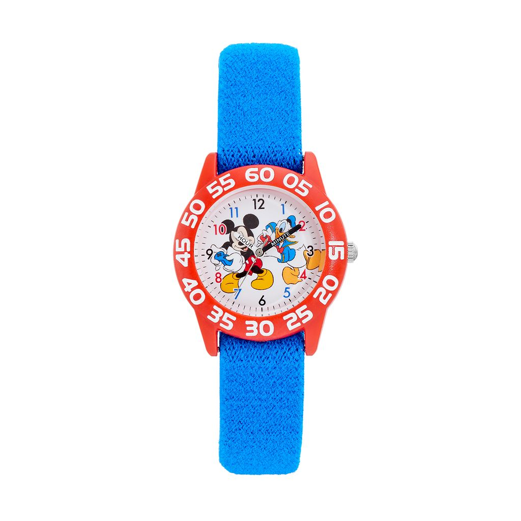 Disney's Mickey Mouse & Donald Duck Boys' Time Teacher Watch
