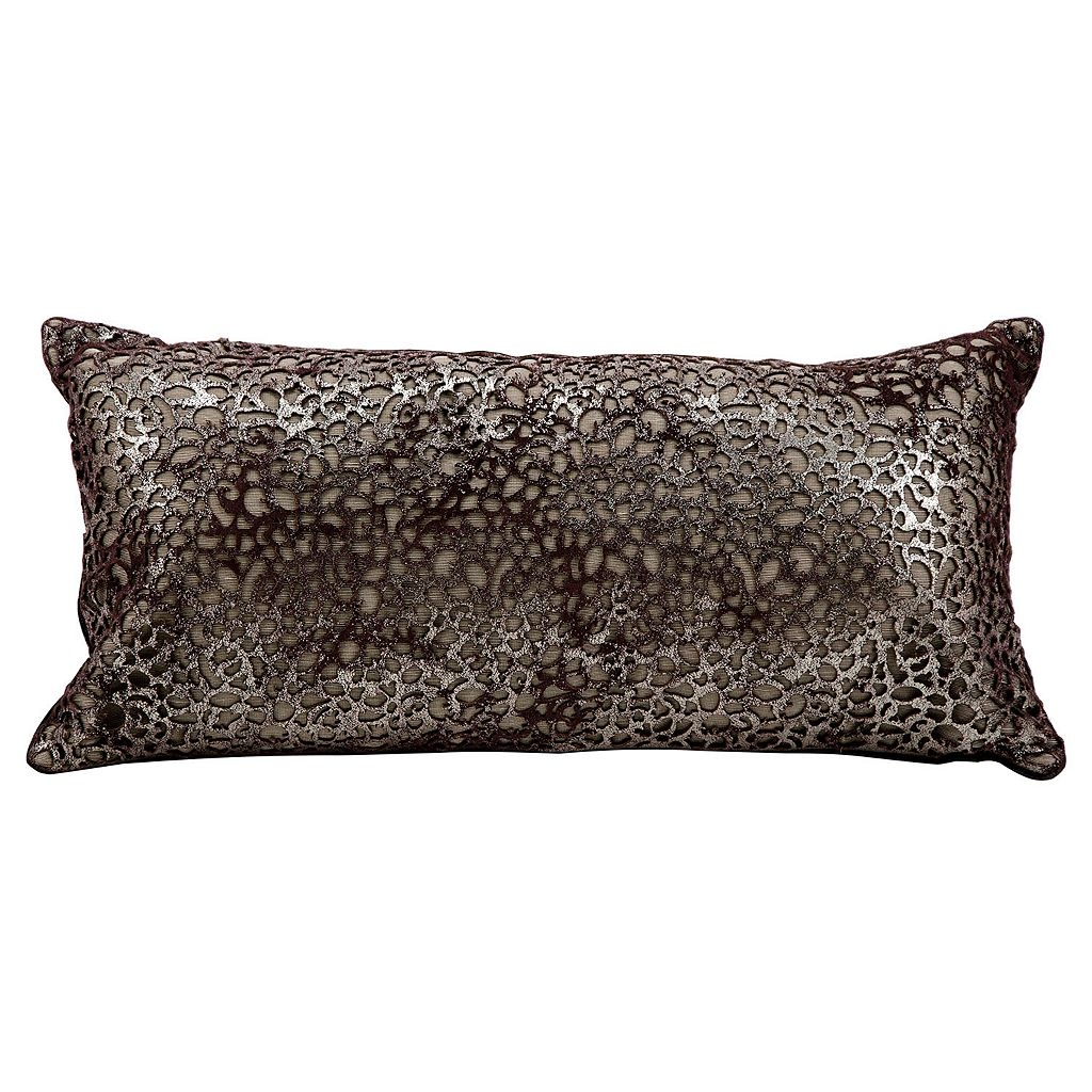 Mina Victory Bordeaux Leather Throw Pillow