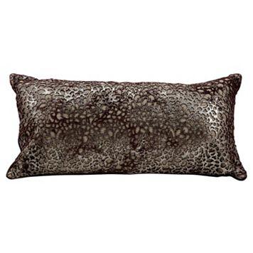 Mina Victory Bordeaux Leather Throw Pillow