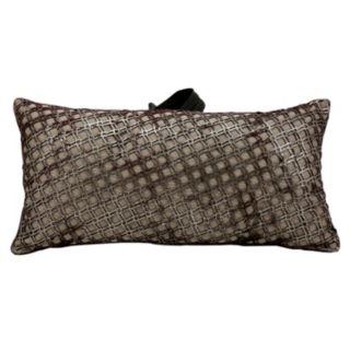 Mina Victory Bordeaux Geo Leather Throw Pillow