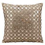 Mina Victory Romantic Lazer Cut Leather Throw Pillow