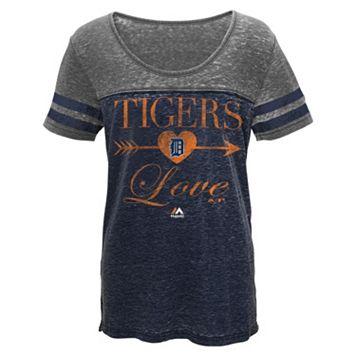 Girls 7-16 Majestic Detroit Tigers Love Struck Tee