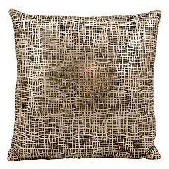 Mina Victory Sitara Lazer Cut Leather Throw Pillow