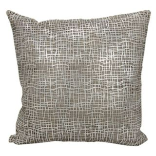 Mina Victory Sitara Lazer Cut Leather Throw Pillow
