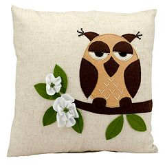 Mina Victory One Owl Throw Pillow