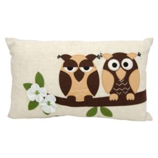 Mina Victory Two Owls Throw Pillow