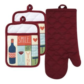 """The The Big One® """"Smile, There's Wine"""" Kitchen 3-pk."""