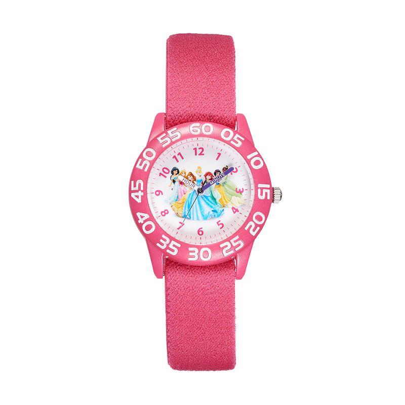 Disney Princess Girls' Time Teacher Watch, Pink