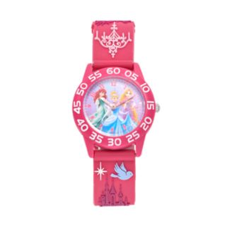 Disney Princess Ariel, Cinderella & Rapunzel Girls' Time Teacher Watch